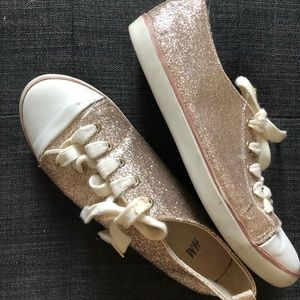 H&M gold glitter sneakers, size 5 good condition